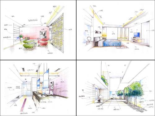 透视技法,速写,室内设计思维与创作,室外写生,室内效果图表现技法