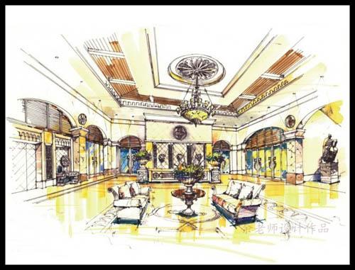 海珠区室内设计培训班_高级室内设计实用手绘班-天琥